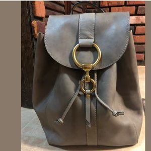 Frye Ilana Harness Veg Tan Leather Backpack Grey